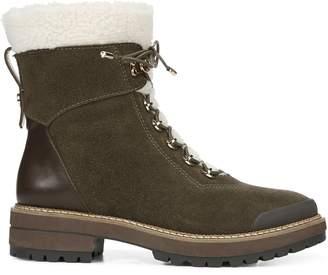 Franco Sarto Rosella Waterproof Leather Faux Fur Trim Short Boots