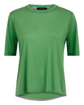 Jaeger Curved Hem Crew Neck T-Shirt
