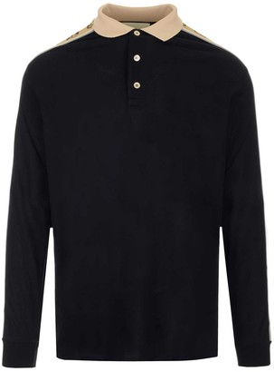 Gucci Long Sleeve Polo Shirt