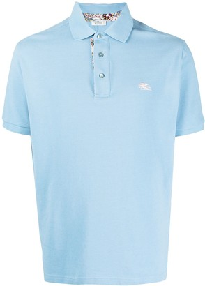 Etro Embroidered Cotton Polo Shirt