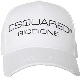 DSQUARED2 D2 RICCIONE COTTON CANVAS BASEBALL HAT