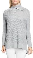 Vince Camuto Multi Stitch Cable Sweater (Regular & Petite)