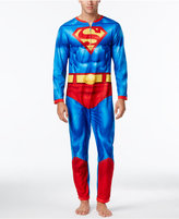 Briefly Stated Men's Superman One-Piece Pajamas With Cape