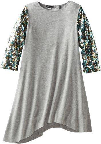 Kate Mack Girls 7-16 Strike A-Pose-Sequin Sleeve Dress