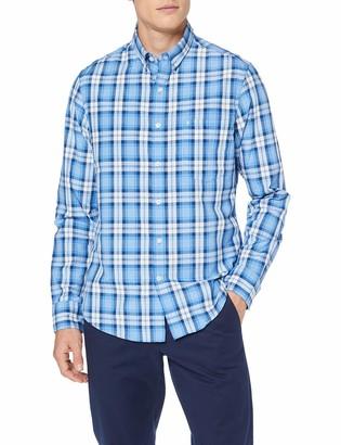 Izod Men's Breeze POPLIN Plaid BD Shirt Casual