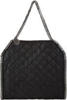 Stella McCartney Women's Quilted Baby Bella Shaggy Deer Tote-BLACK