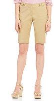 MICHAEL Michael Kors Stretch Cotton Snap-Tab Waistband Bermuda Shorts