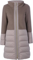 Herno hooded puffer jacket - women - Feather Down/Polyamide/Wool/Goose Down - 38