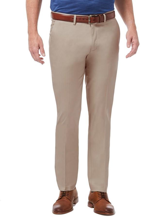 Haggar Mens Slim Fit Blue Chinos Premium No Iron Khakis Navy Pants $70 New 38x30