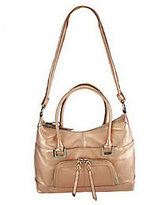 B. Makowsky As Is Glove Leather Zip Top Satchel