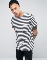Cheap Monday Standard Prep T-Shirt Narrow Stripe