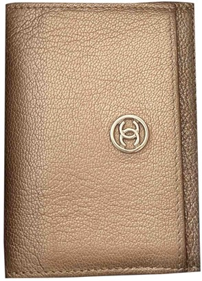 Chanel Gold Leather Purses, wallets & cases