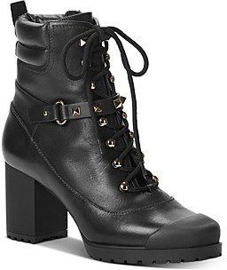 Valentino Women's High-Heel Studded Strap Combat Boots
