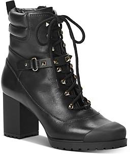 Valentino Women's Rockstud High-Heel Studded Strap Combat Boots