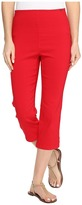 FDJ French Dressing Jeans Techno Slim Pull-On Capris in Red