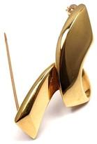 Tiffany & Co. Paloma Picasso 18k Yellow Gold Small Ribbon Brooch Pin