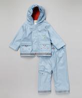Kushies Blue Raincoat & Pants - Infant