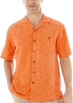 JCPenney Island Shores Short-Sleeve Silk Jacquard Shirt