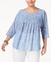 MICHAEL Michael Kors Size Pleated Peasant Top