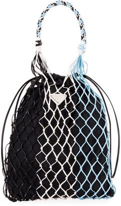 Prada Rete Colour Net Top Handle Bag