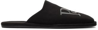Balenciaga Black Jersey Eiffel Tower Cozy Slippers