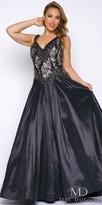 Mac Duggal Embellished Drop Waist Plus Size Ball Gown