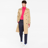Paul Smith Men's Camel Cotton-Twill Double Breasted Belted Mac