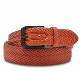 Thumbnail for your product : Bosca Vesuvio Braid Embossed Leather Belt