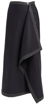 Mark Kenly Domino Tan Nadia Draped Maxi Skirt