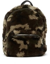 Do Everything in Love Camouflage Faux Fur Backpack