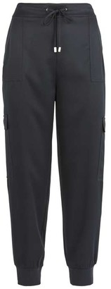 Mint Velvet Navy Satin Cargo Pants