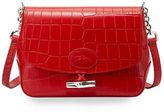 Longchamp Roseau Crocodile-Embossed Crossbody Bag