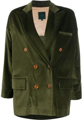 Jejia Double-Breasted Velvet Jacket