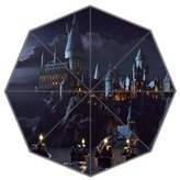 Angelinana Harry Potter Hogwarts Castle Pattern Custom Foldable Sun Rain Umbrella Wind Resistant Windproof Floding Travel Umbrella