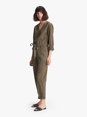 XiRENA Wylder Twill Jumpsuit - Earth