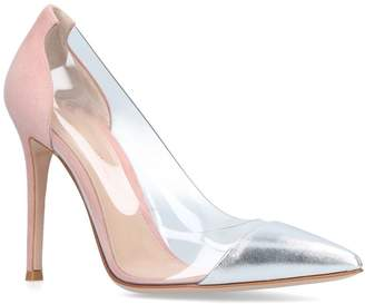 Gianvito Rossi Metallic Plexi Courts 105
