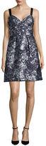 Vera Wang Textured Metallic A-Line Dress