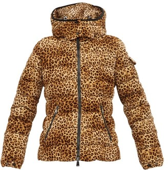Moncler Bady Leopard-print Quilted-down Jacket - Womens - Leopard
