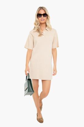 Pomander Place Apricot Channing Polo Mini Dress