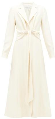 Gabriela Hearst Angeli Knotted Wool-blend Dress - Ivory