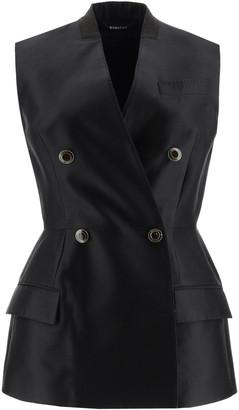 Givenchy Sleeveless Peplum Jacket