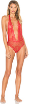 L'Agent by Agent Provocateur Grace No Ouvert Bodysuit in Red. - size L (also in )