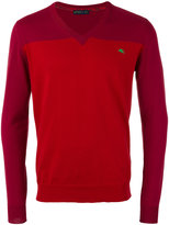 Etro tonal V-neck jumper