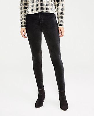 Ann Taylor Velvet Sculpting Pocket High Rise Skinny Jeans
