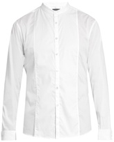 John Varvatos Granddad-collar Cotton Shirt