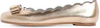Salvatore Ferragamo 10mm Varina Shell Metallic Leather Flats
