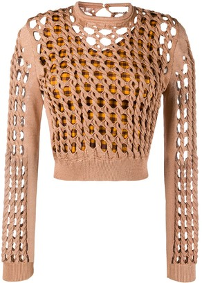 Fendi Interlock Knit Cropped Jumper