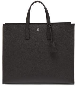 Mark Cross Fitzgerald Palmellato Leather Tote - Mens - Black