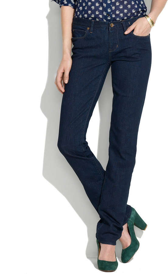 Madewell Rail Straight Jeans in Wash