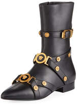 Versace Tribute Belted Buckle Boot